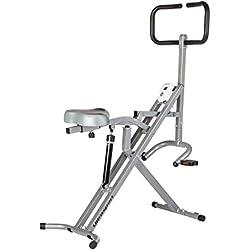 Ultrasport F-Rider Entrenamiento fitness, abdominales, tonificación abdomen, piernas y glúteos. Musculación y cardio, Negro