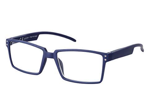 TBOC Lesebrille Lesehilfe für Herren und Damen - Dioptrien +2.00 Blau Fassung mit Stärke für PC Handy Trend Frauen Männer Senioren Fedescharnierem Bügel für Alterssichtigkeit Presbyopie