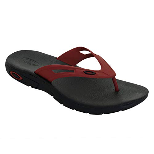 Oakley 15204-465-5 Ellipse Flip Red Line UK 5 Flip Flop