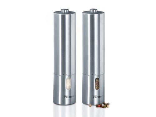 Tristar pm-4005 macina pepe/sale pm-4005, set 2 pezzi in acciaio inox - luce
