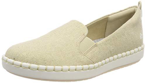 Clarks Step Glow Slip, Zapatillas sin Cordones para Mujer, Beige Soft Gold, 41 EU