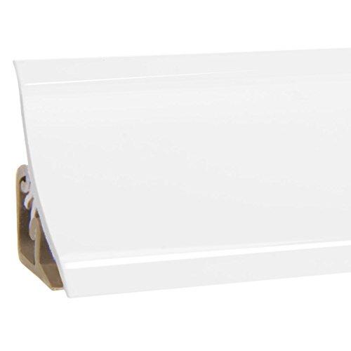 HOLZBRINK Küchenabschlussleiste Weiß Küchenleiste PVC Wandabschlussleiste Arbeitsplatten 23x23 mm...