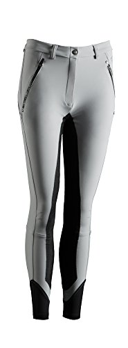 TOPAS sports Reithose mit Lederbesatz grau, Größe 38