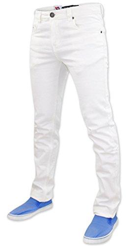 ... True Face Herren Jeans, enganliegend, elastisch, Denim, 5 Taschen Weiß  ...