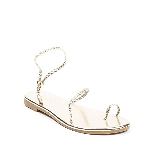 Ideal Shoes, Damen Sandalen Doree