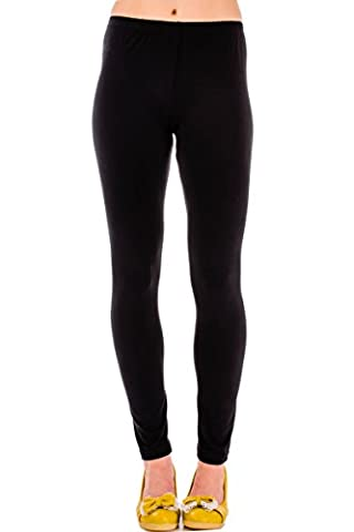 Warm Up Hue Cotton Women's Leggings In Size L Black - 100% Money Back Guarantee - Order Risk Free!