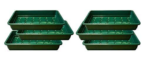 Paquet de 6 plateaux de semences Britten & James® Professional. Plateaux verts robustes pleine grandeur en plastique très épais avec trous de drainage efficaces.