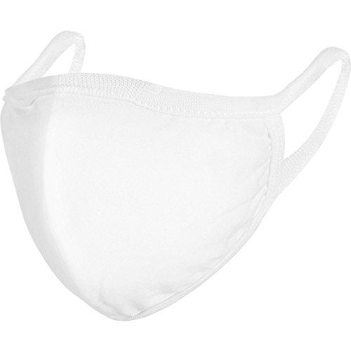 4 Stücke Anti Staub Baumwolle Mund Gesichtsmasken Mund Abdeckung für Mann und Damen (Weiß) -