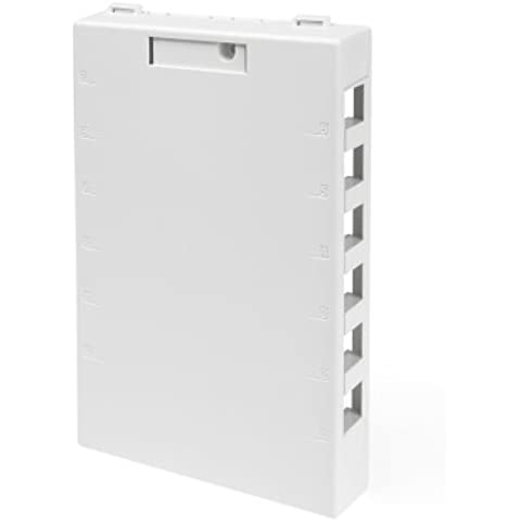 Leviton 41089-12W QuickPort Surface Mount Housing, 12-Port, White by