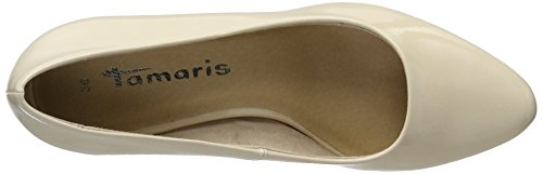 Tamaris 22430, Escarpins fermés femme Beige (Cream Patent 452)