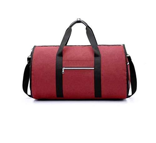 TENGGO 2 In 1 Wasserdichte Yoga Bag Travel Shoulder Bag Großgepäck Duffel Totes Carry Hand Bag-Rot