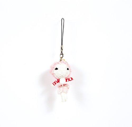 Voodoo/Gag/Gimmick/Hingucker: Handy-/Schlüsselanhänger Vodoodoo-Puppe DAME IN PINK - Vertrauen