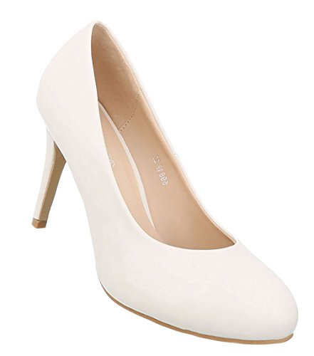 Damen Schuhe Pumps High Heels Creme 41