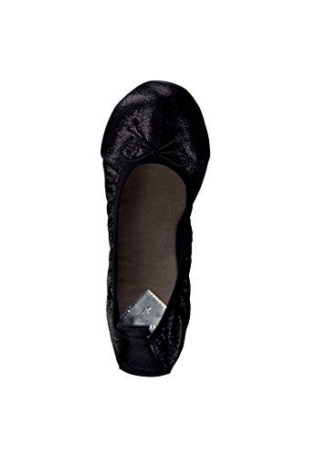 1 28 Sapatos Tamaris 006 Senhoras 1 Metálico Preto Preto Confortáveis 22113 struct bailarina wCZ5qO