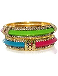Fancy Bangles Metallic,tri Colour