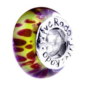 Silverado 'Painted Orchard' Argent 925et Verre de Murano Bead–s'adapte sur Pandora Troll et Chamilia Bracelets