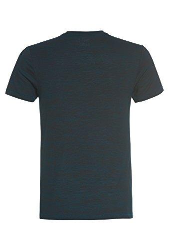 TANTUM O.N. Modisches T-Shirt mit V-Neck, Herren Herren-Shirt,Shirt,T-Shirt,Viskose-Shirt, grün-meliert