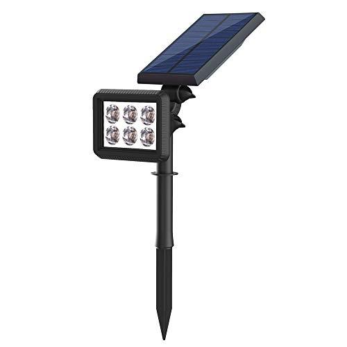 Solarleuchten Außen Garten 6 LED Super Hell 2 in 1 Solar Wandleuchte Gartenleuchten IP64 Wasserdicht 2 Beleuchtungsmodi und Einstellbarer Drehwinkel LED Solarleuchte für Garten Hof Garage Pathway