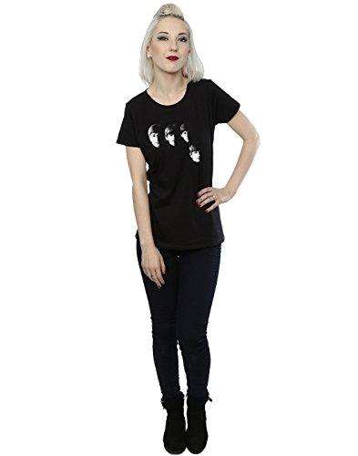 The Beatles Femme Four Heads T-Shirt Noir