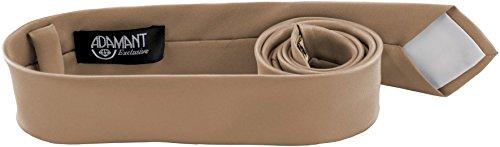 ADAMANT® Beige Designer Krawatte 5cm schmal - TOPQUALITÄT - Moderne Beige Krawatte / Schlips für Business und Alltag - Beige uni