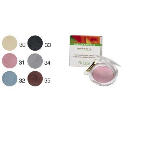 Lepo Fard à paupières en Compact N ° 34 couleur Gris Clair avec pinceau Curelty Free fabriqué en italie