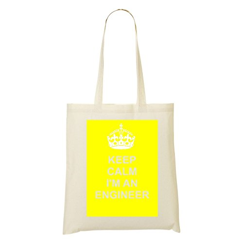JOB carriera entertainer (/), in cotone, Design-Borsa a spalla in cotone naturale, Giallo, Giallo