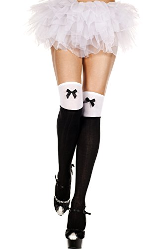 music-legs-womens-two-tone-acrylic-thigh-hi-with-satin-bow-black-white-one-size
