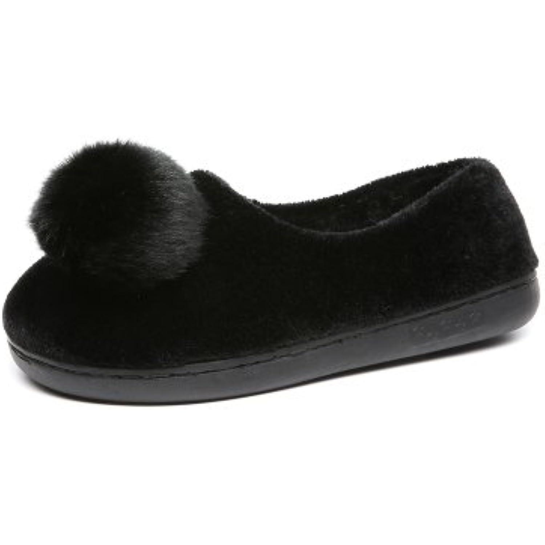 LaxBa Femmes Hommes Chaussures Slipper antiglisse intérieur B07B8LGNM9 39 Noir - B07B8LGNM9 intérieur - da265e