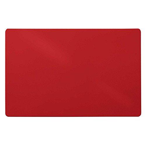 Trendige Schreibtischunterlage | Rot | abwischbar | PVC-frei | 65 x 50 cm