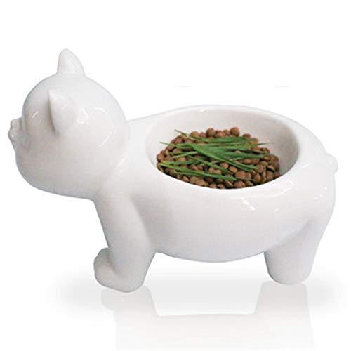 MYYXGS Ciotola in Ceramica per Animali Domestici Tipo di Gatto Ciotola per Alimenti per Cani Tipo di Gatto Decorazione Simpatico Gatto Modello Ciotola per Gatti 26 * 13,5 * 16,5 Cm