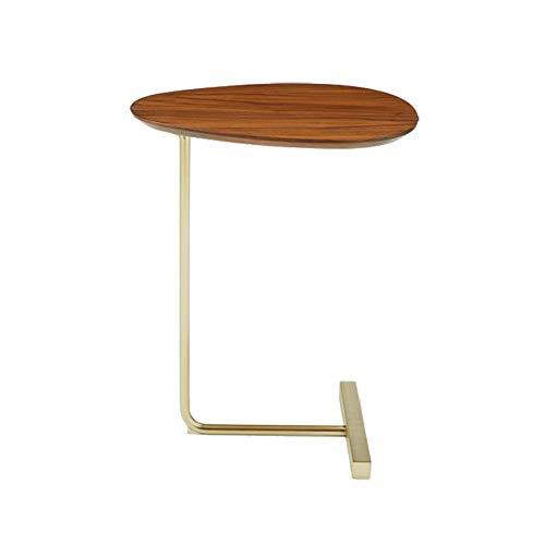JZX Faule Tisch-Klapptisch Kreative Einfache Oval Kleine Couchtisch Mobile Massivholz Schmiedeeisen Sofa Ecke Mehrere Seiten