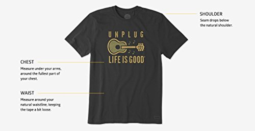 Life is Good Damen Ringer Tee Peace Love Hoppy clturq T-Shirt,, Cool Turquoise