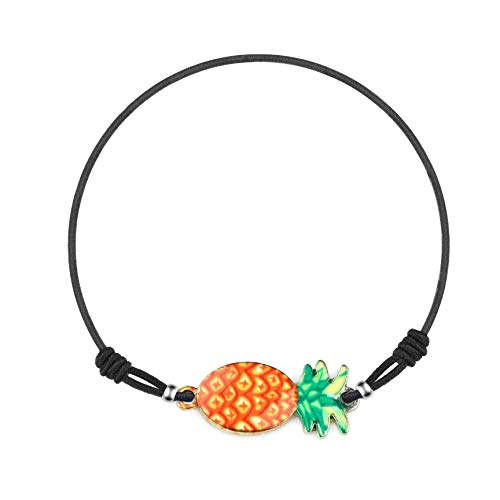 Made by Nami Armband Frauen Freundschaftsarmband Armbänder - Surfer Schmuck Damen mit Anhänger Ananas (Orange)