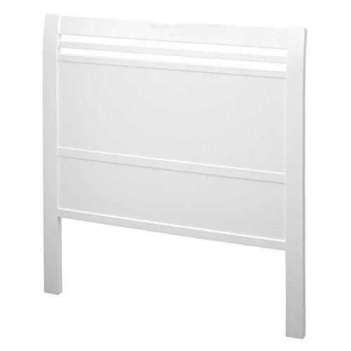 bainba Flügel Kopfteil, Holz, Weiß, 3.5x 100x 115cm
