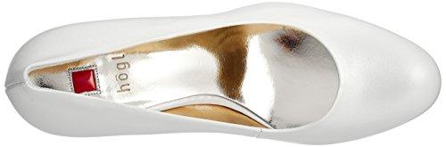 8003 10 Perlweiß 0300 Bianco 5 con Högl Tacco Scarpe Donna B4axZnqqWw
