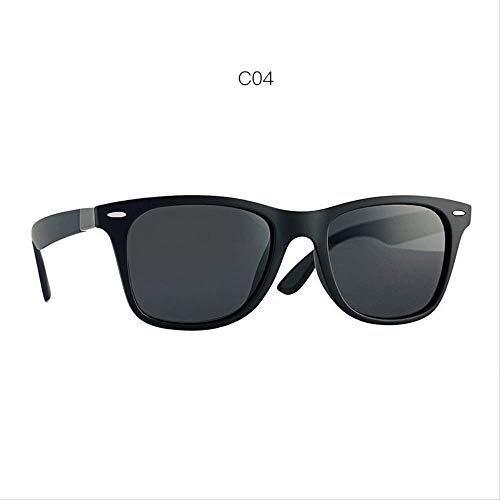MJDL Fashion Classic Polarisierte Sonnenbrille Männer Frauen Markendesign Driving Square Frame Sonnenbrille Für Männer Goggle Uv400 C04