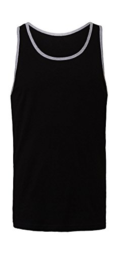 Unisex Jersey Tank Top - Farbe: Black/Athletic Heather - Größe: XS