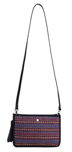 La vogue Damen Vintage Umhängetasche Kleine PU Leder Schultertasche Elegant Handtasche