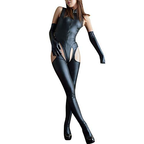 Mesh Cami Bodystocking (ODRD Damen Dessous Frauen Unterwäsche Sexy Jumpsuit Damen Leder Unterwäsche Reißverschluss Unterwäsche Pyjamas Sexy Body Nachtwäsche Erotik Lingerie Bodysuit Damenwäsche Babydoll)
