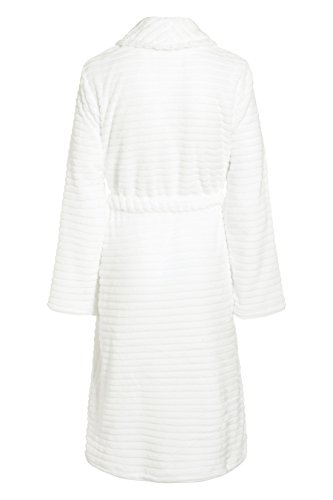 next Femme Robe De Chambre Striée Blanc