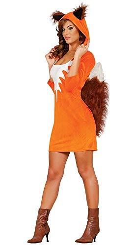 fasching fuchs Damen Kostüm FOXY GIRL Fuchs mit Kunstfell, Größe: L