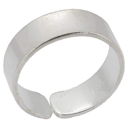Touch Jewellery - Anello a fascia da piede in argento sterling