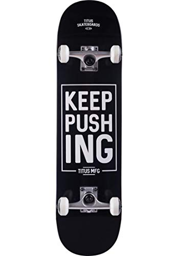 TITUS Skateboards-Complete Keep Pushing, Black, 8