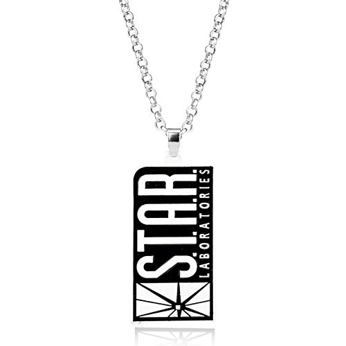 Superman Men Star Laboratories Fashion Summer Jewelry Dog Tag Necklace Hip Pop T-shirt Accessory Pendant Necklace Men Gift