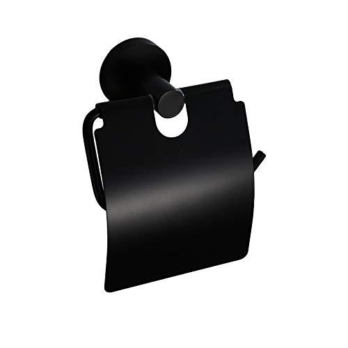 Papierhandtuchhalter Schwarz Toilettenpapier Bad Edelstahl Bad Rollenhalter frei Stanzen Toilettenpapierhalter Rack