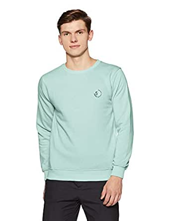 Qube By Fort Collins Men's Sweatshirt (929250 SMU_Green Milange_M)