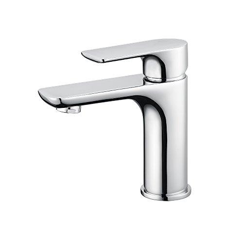 Homelody Chrom Wasserhahn Bad Armatur Waschbeckenarmatur Waschtisch Mischbatterie Badarmatur Waschtischmischer Einhebelmischer