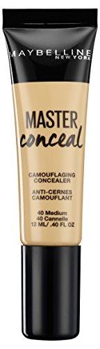 Maybelline Master Conceal Nr. 40 Medium, hochpigmentierter Concealer, kaschiert zuverlässig dunkle Augenringe und kleine Hautunebenheiten, für einen frischen Teint, wasserfest, 12 ml