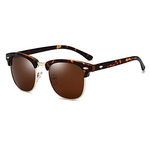 Ahan outdoor Polarisierte Sonnenbrille, die Gläser, C3 Leopard Frame Tea Slices fährt