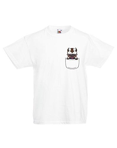 Appa Pocket, Kind-druckten T-Shirt - Weiß/Transfer 12-13 Jahre